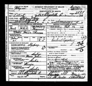 steve john death certificate