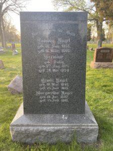 Nagel Family Headstone